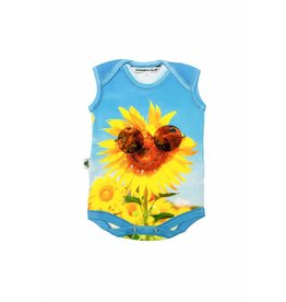 Inchworm Sunflower Sunnies Printed Onesie