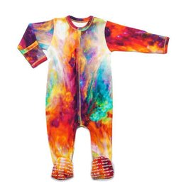 Inchworm Orion Nebula Printed Zip-Up Footie