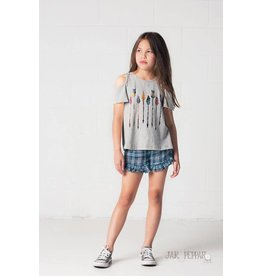 Jak & Peppar Heather Gray Flutter By Top