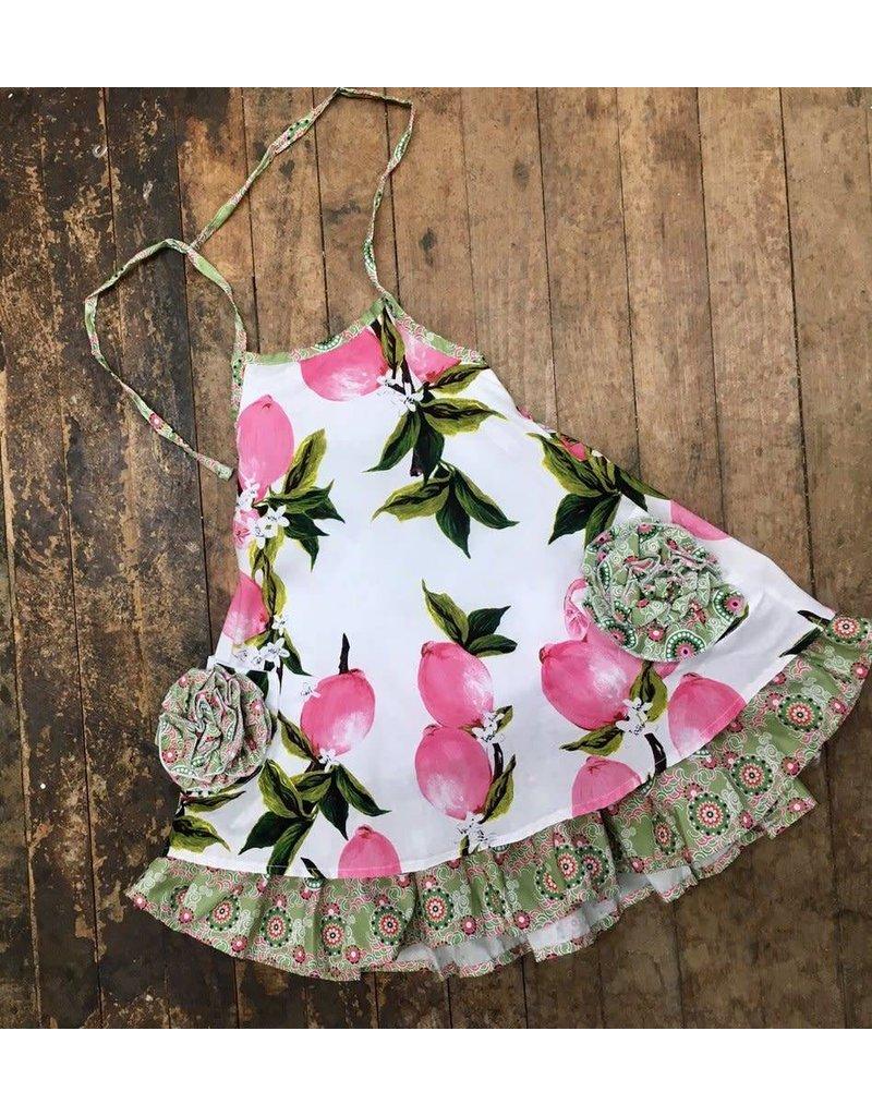 gurlybird Lemon Halter Woven Dress