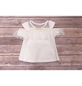 Baby Sara White Daisy Cold Shoulder