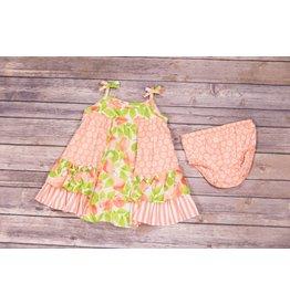 Bonnie Jean Peach and Flower Dress