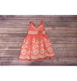 Isobella & Chloe Sweet Water Coral Dress
