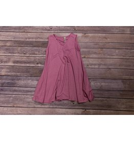 Pomelo Mauve Cross V-Neck Dress