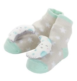 Baby Dumpling Mint Moon Rattle Socks