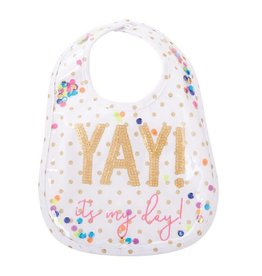 Mud Pie Yay it's My Day Confetti Bib