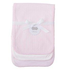Mud Pie Pink Pointelle Burp Cloth Set