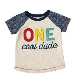 Mud Pie ONE Cool Dude Birthday Shirt