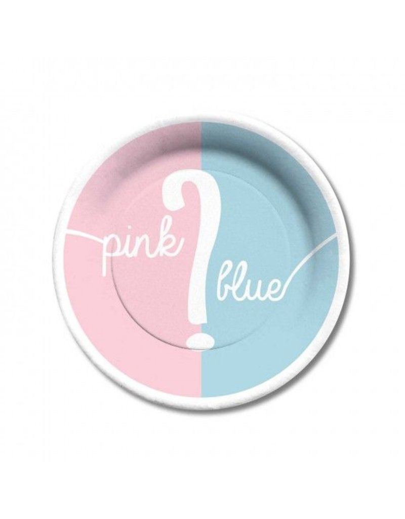 C.R. Gibson Pink or Blue Paper Plates-Dessert  sc 1 st  Peek-a-Bootique & Pink or Blue Paper Plates - Peek-a-Bootique