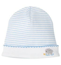 Mud Pie Little Elephant Striped Cap 0-3M