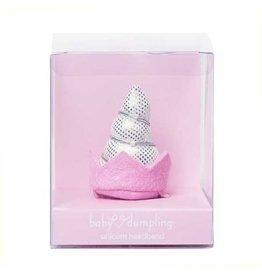 Baby Dumpling Pink and Silver Unicorn Headband