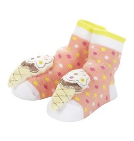 Baby Dumpling Ice Cream Cone Rattle Socks