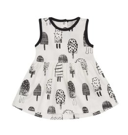 Miles Baby White and Black Popsicle Dress