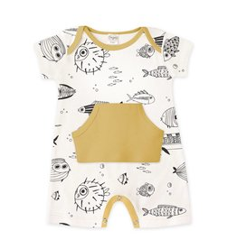 Tesa Babe Fishy Romper with Kangaroo Pouch