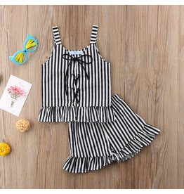 Black and White Striped Beetle Juice Outfit