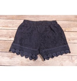 Mae Li Rose Navy Lace Shorts