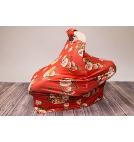 Red Rose Car Seat & Handle Cover