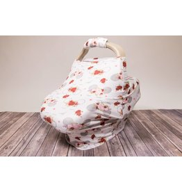 Floral Mouse Car Seat & Handle Cover