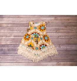 Tan Indian Fringe Dress