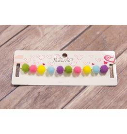 Multi Color Pom Pom Necklace