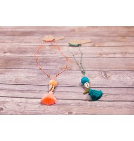 Bela & Nuni Tassel and Shell Necklace NK-08