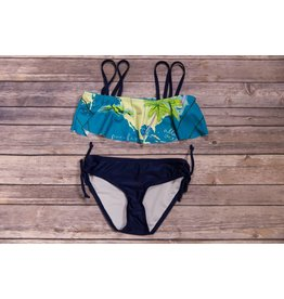 Lime Apple Island Printed Ruffle Bikini