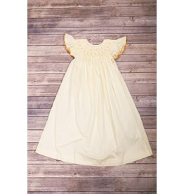 Mom & Me Yellow Flutter Sleeve Dress