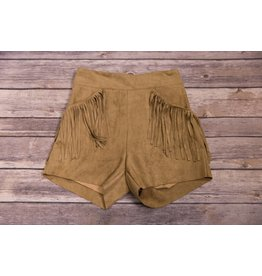 Idol Mind Kids Brown Fringe Pocket Shorts