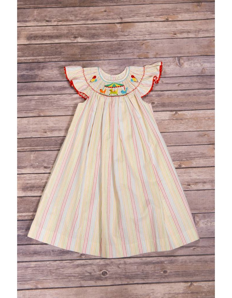Carnival Smocked Dress - Peek-a-Bootique