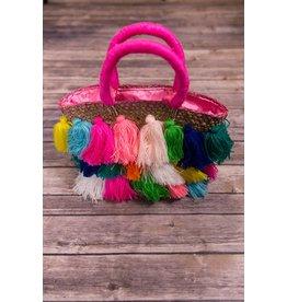 Bela & Nuni Natural Multi Colored Bag