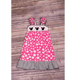 Banana Split Mouse Ears Smocked Dress