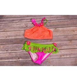 Hula Bikini- Coral Crochet