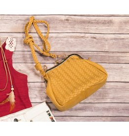 Popatu Brown Knitted Handbag