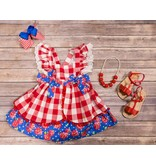 Runaway Pony Red Gingham Creme Brulee Dress
