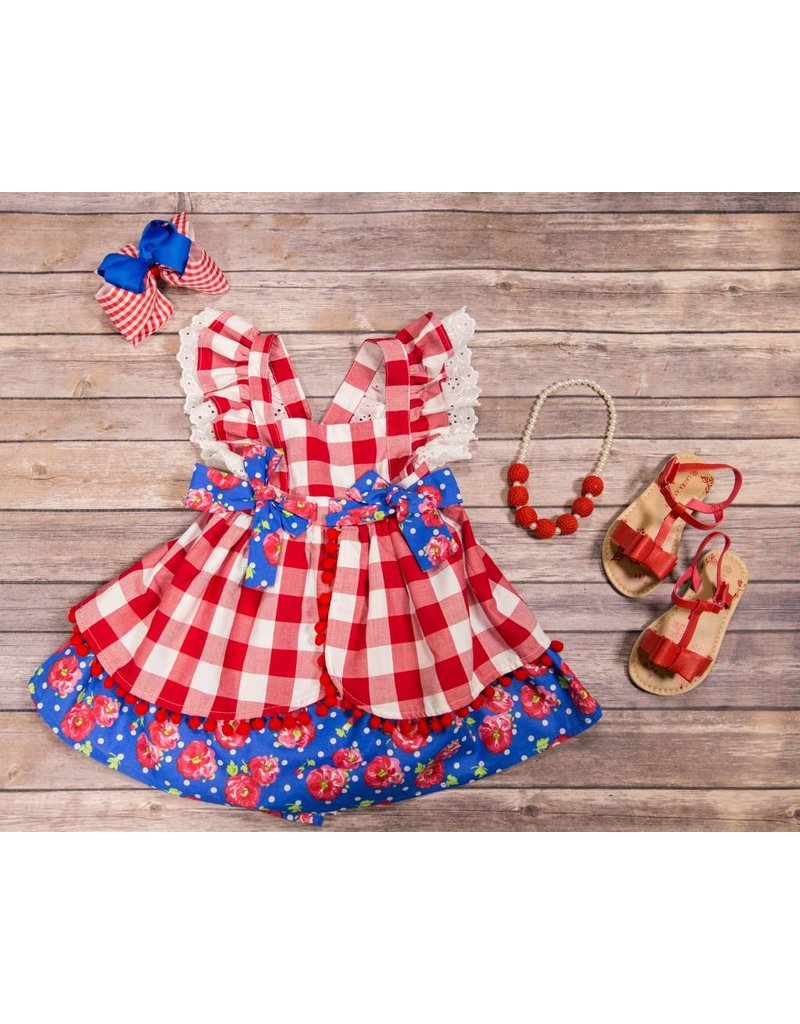 Runaway Pony Red Gingham Creme Brulee Dress