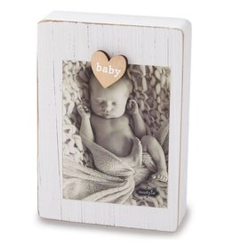 Mud Pie White Magnetic Clip Frame