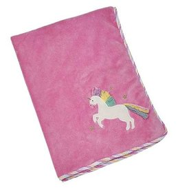 "Maison Chic Trixie the Unicorn Plush Blanket, 29""X40"""