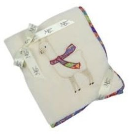 "Maison Chic Llucky the Llama Plush Blanket, 29"" X 40"""