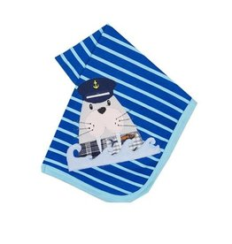 Haute Baby Ahoy Boy Striped Blanket