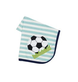 Haute Baby Striped Soccer Baby Blanket