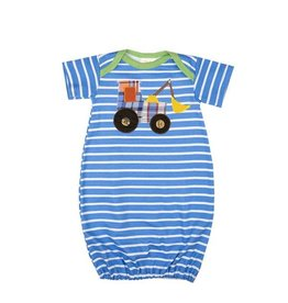 Haute Baby Get The Scoop Striped Gown 0-3M