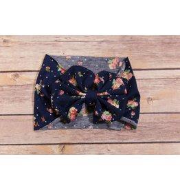 Flower Print Bow Headband