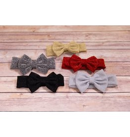 Glitter Thick Bow Headbands