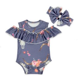Boho Princess Cold Should Romper and Headband