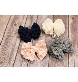 Mae Li Rose Lace Bow Clip
