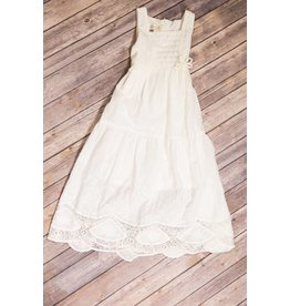 Isobella & Chloe Off White Long Detailed Dress