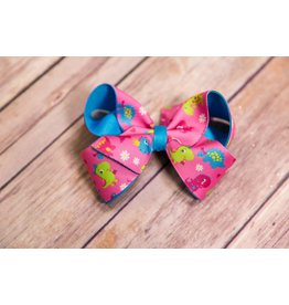 Wee Ones Dino Print Overlay Bow