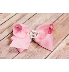 Wee Ones King Pink Crown Hairbow