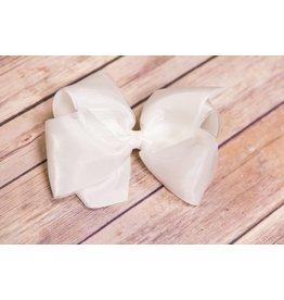White Pearl Grosgrain Bow