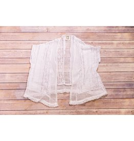 PP LA White Lace Cardigan Cover-Up